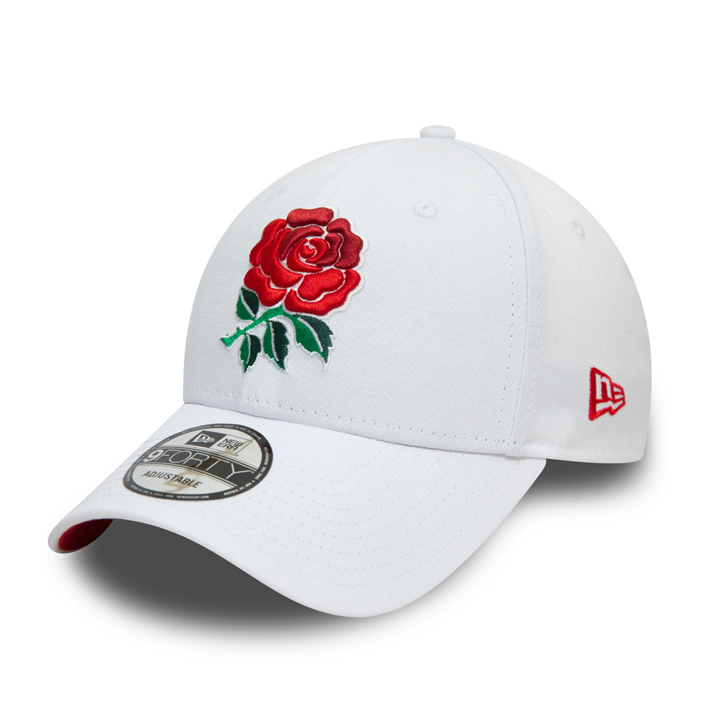Cappellino England Rugby Union Rose 9FORTY bianco