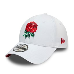 Casquette England Rugby Union Rose 9FORTY, blanc
