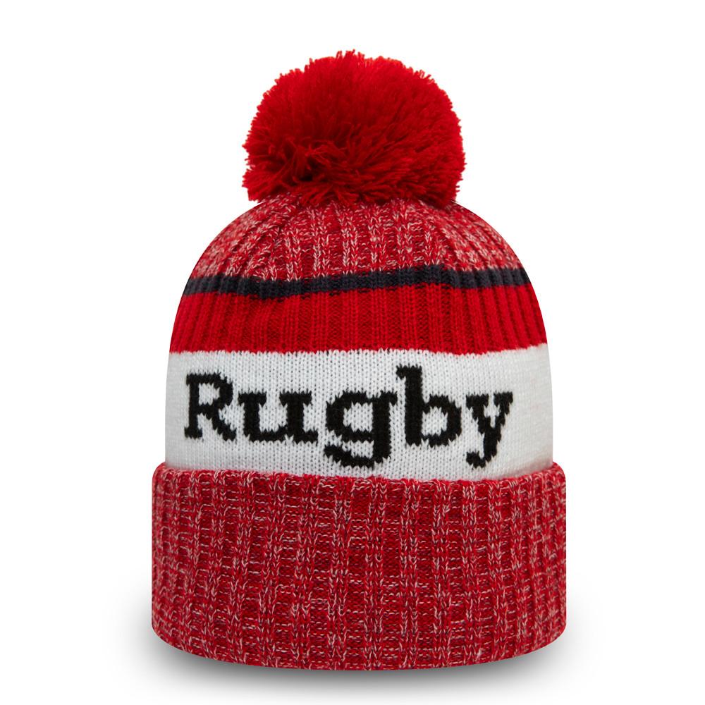 Bonnet à pompon England Rugby Union Wordmark, rouge