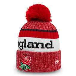 Bonnet à pompon England Rugby Union Wordmark, rouge