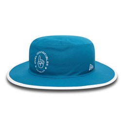 Oval Invincibles The Hundred Blue Panama Bucket Hat