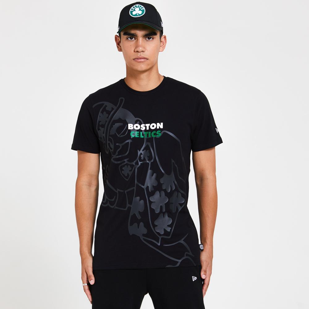 Boston Celtics Gradient and Graphic Black T-Shirt