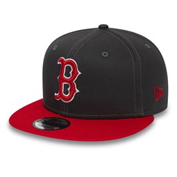 Boston Red Sox – Essential 9FIFTY-Kappe mit Schirm in Kontrastfarbe Grafit