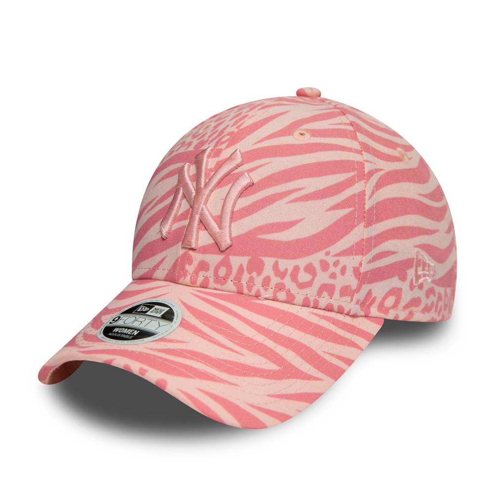 New York Yankees – 9FORTY-Damenkappe mit durchgehendem Muster – Tonal – Pink