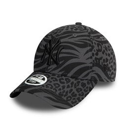 Gorra New York Yankees Tonal All Over Print 9FORTY mujer, negro