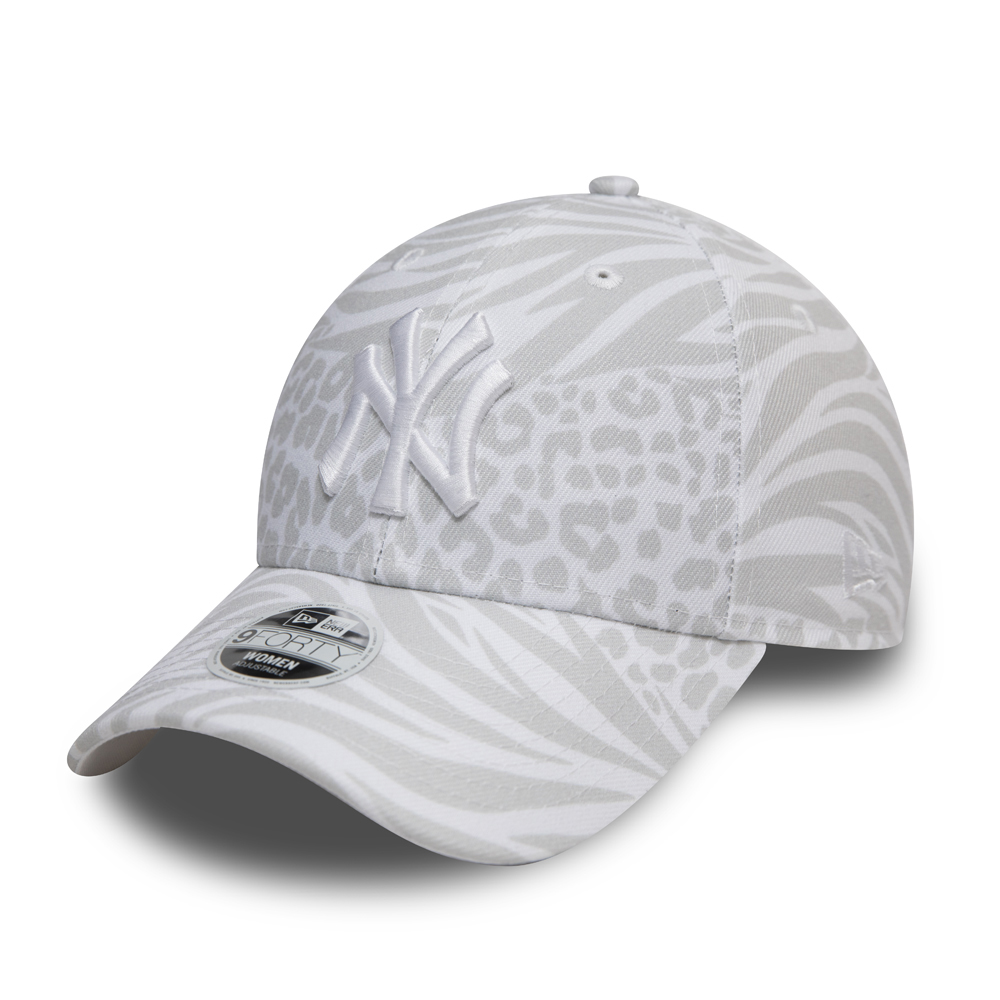 Gorra New York Yankees Tonal All Over Print 9FORTY mujer, blanco