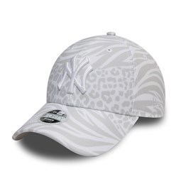 New York Yankees Tonal All Over Print Womens White 9FORTY Cap