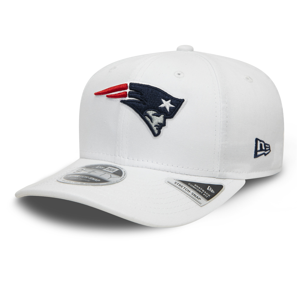 New England Patriots – 9FIFTY-Kappe mit Stretch Snap – Weiß