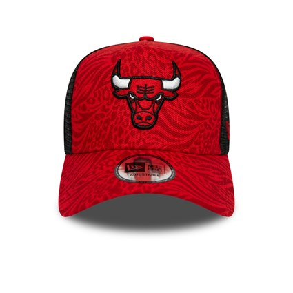 Chicago Bulls All Over Print Hook Red Trucker