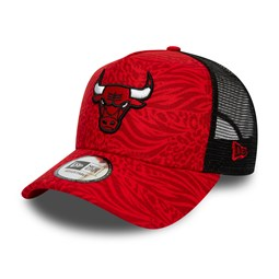Chicago Bulls – Hook – Bedruckte Truckerkappe in Rot