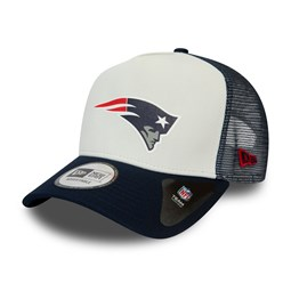 New England Patriots – Trucker-Kappe in Team-Blockfarben – Weiß