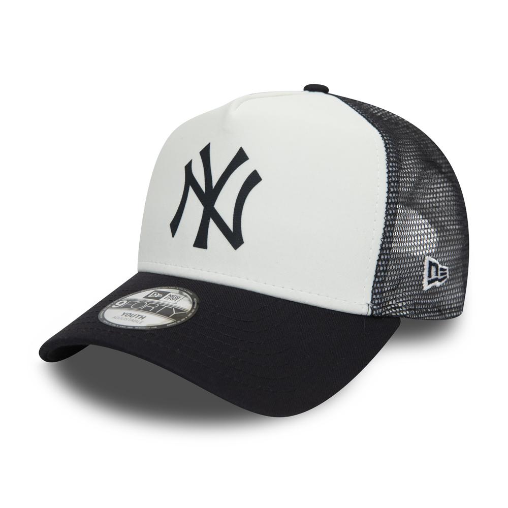 New York Yankees – Team – Kinder-Truckerkappe im Farbblockdesign in Weiß