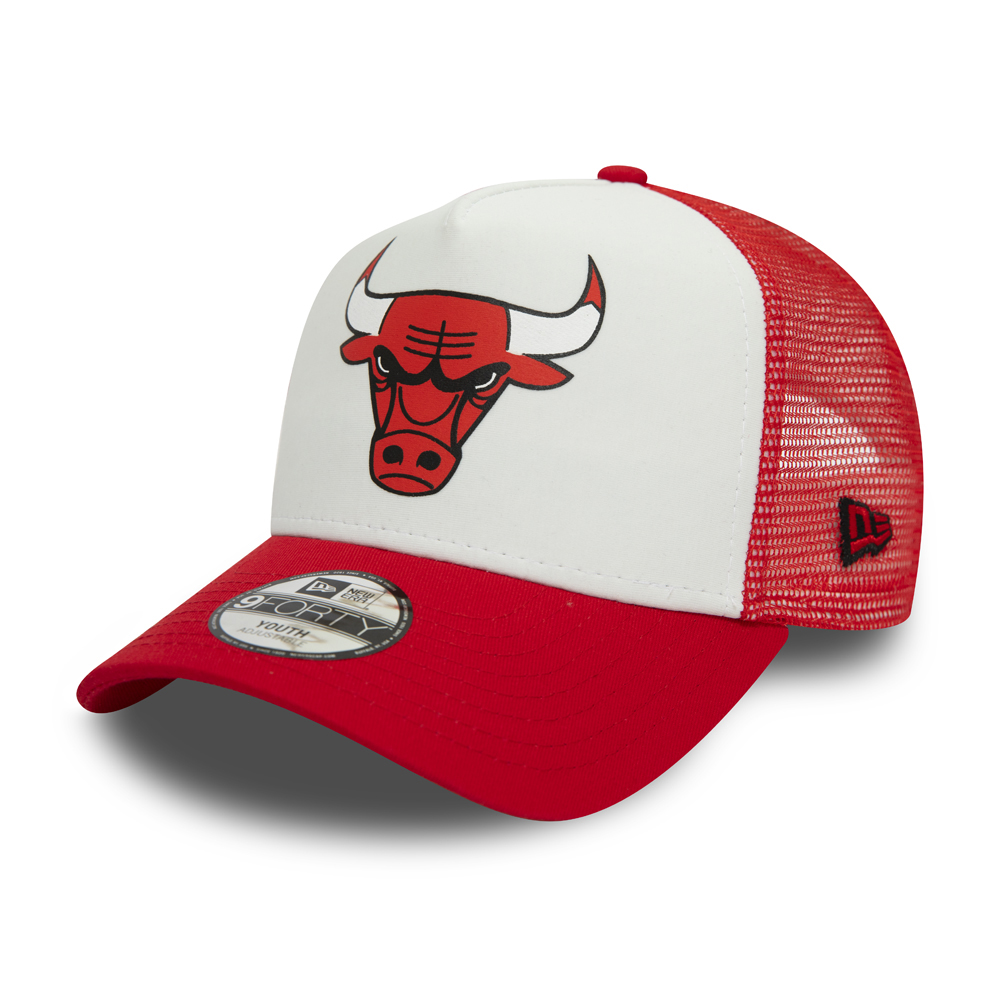 Gorra trucker Chicago Bulls Team Colour Block niño, blanco
