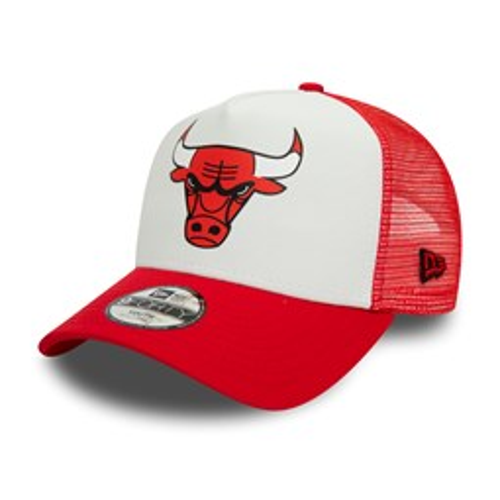 Chicago Bulls – Team– Kinder-Truckerkappe im Farbblockdesign in Weiß
