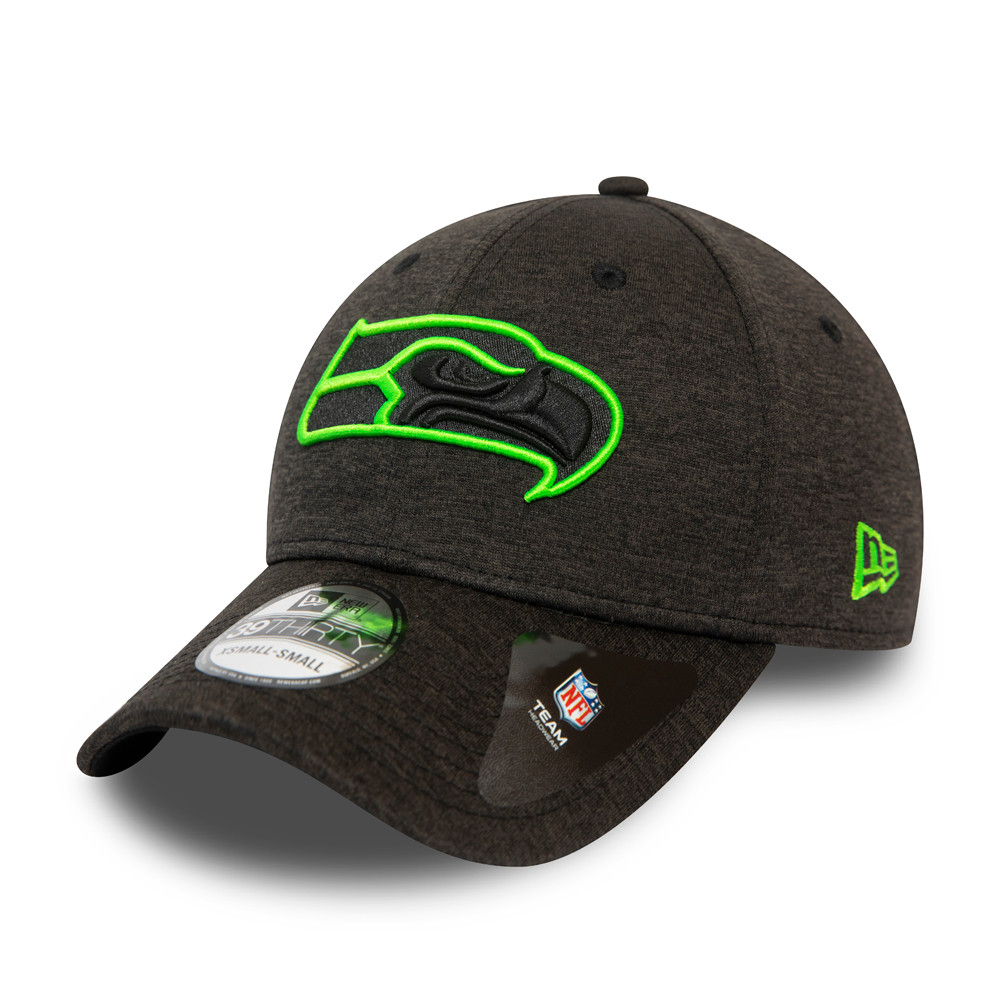 Casquette Seattle Seahawks Neon Outline Shadow Tech 39THIRTY Gris