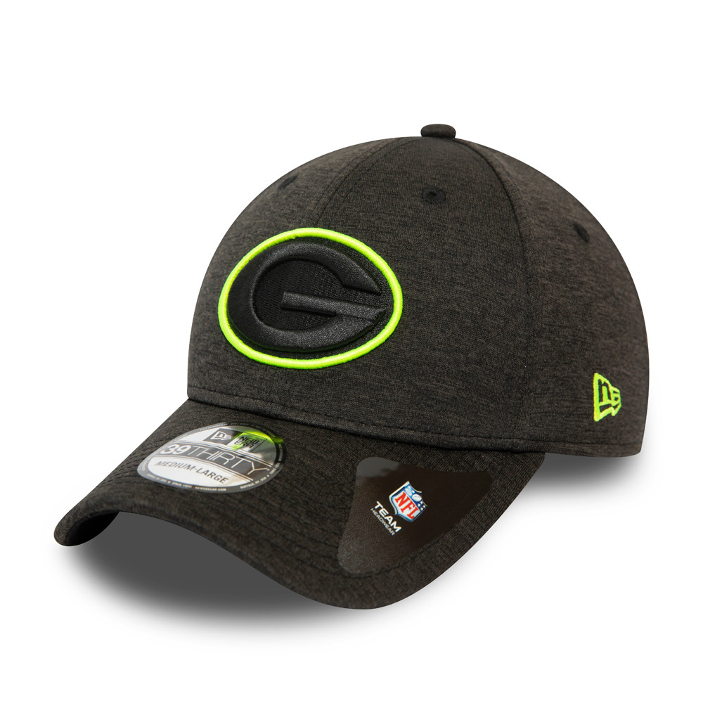 Casquette Green Bay Packers Neon Outline Shadow Tech 39THIRTY Gris