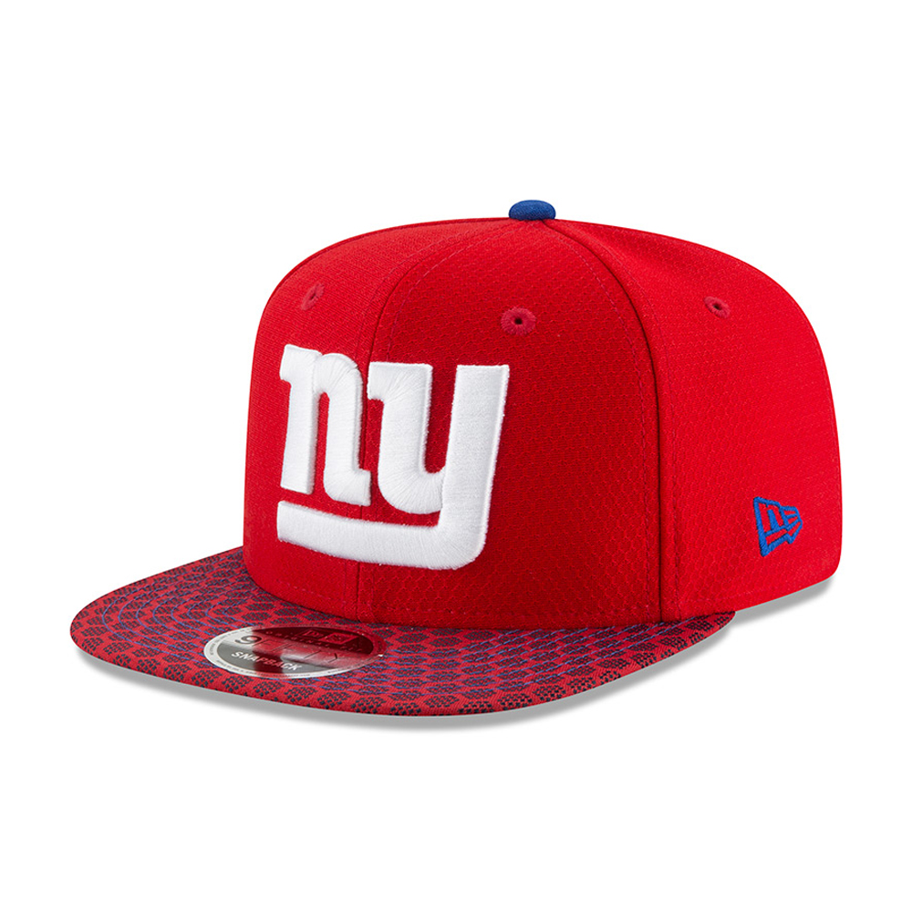 New York Giants 2017 Sideline 9FIFTY Snapback rosso  91015a71e3e5