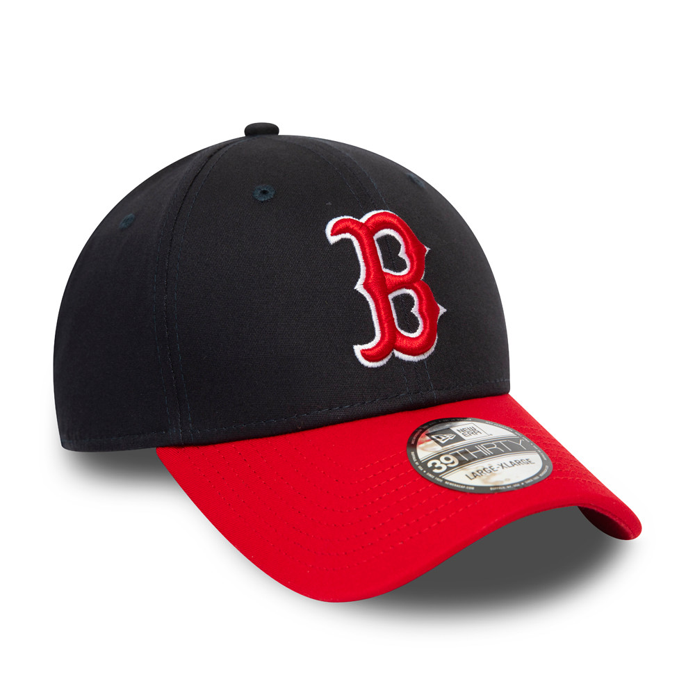 Boston Red Sox Essential Contrast Visor Navy 39THIRTY Cap