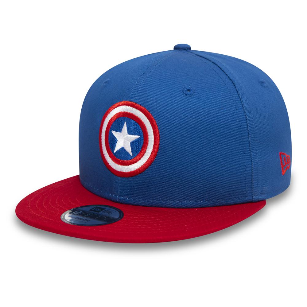 Casquette Captain America 9FIFTY Enfant bleu