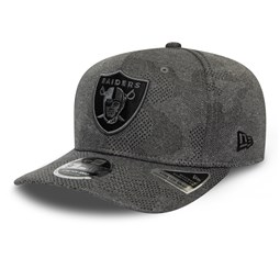 Las Vegas Raiders Engineered Plus Grey Stretch Snap 9FIFTY Cap