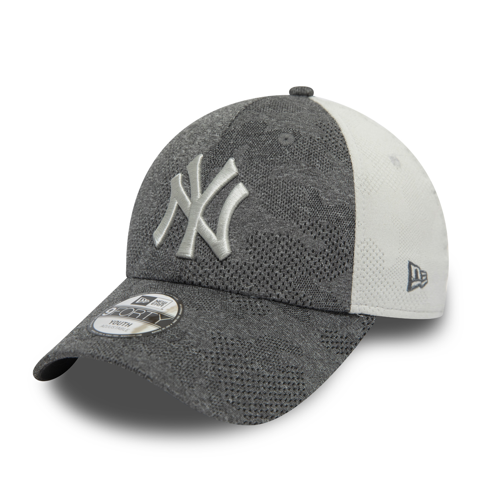 9FORTY – New York Yankees – Engineered Plus – Kontrastierte Kinderkappe in Grau