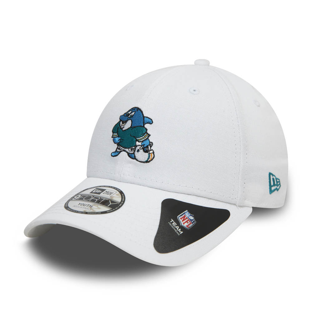 Miami Dolphins Icons Kids White 9FORTY Cap