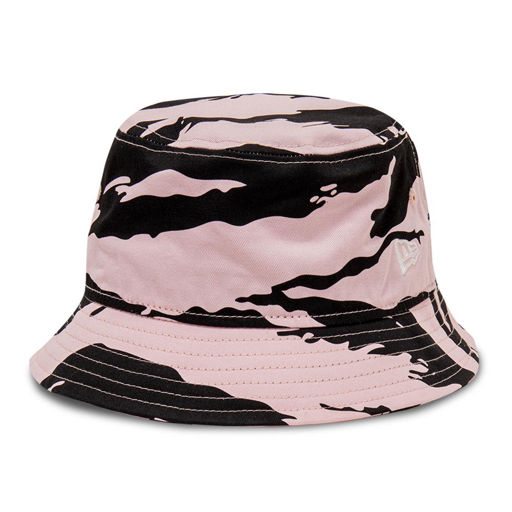Gorro estilo pescador New Era Tiger Print, rosa