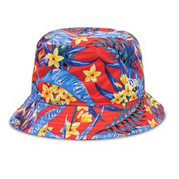 New Era All Over Floral Print Red Bucket