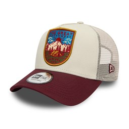 New Era Outdoors Contrast Visor Trucker bordeaux