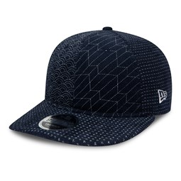 New Era – 9FIFTY – Bedruckte Kappe in Indigo mit Retro-Krone