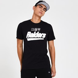 Oakland Raiders Wordmark Black T-Shirt