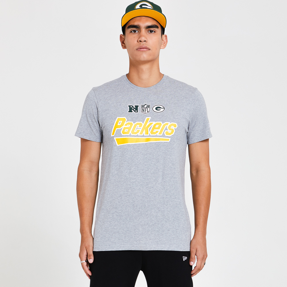 Green Bay Packers Wordmark Grey T-Shirt