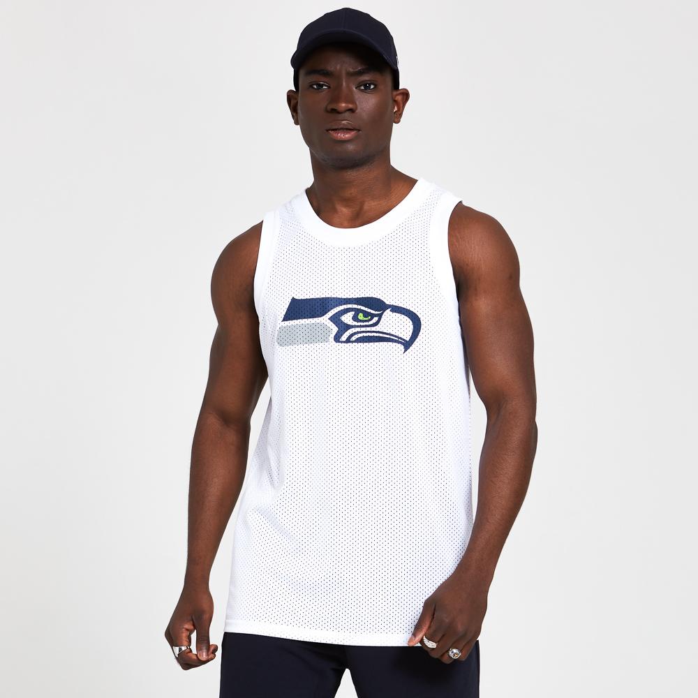 Débardeur blanc avec graphique des Seahawks de Seattle