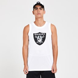 Oakland Raiders Graphic White Vest