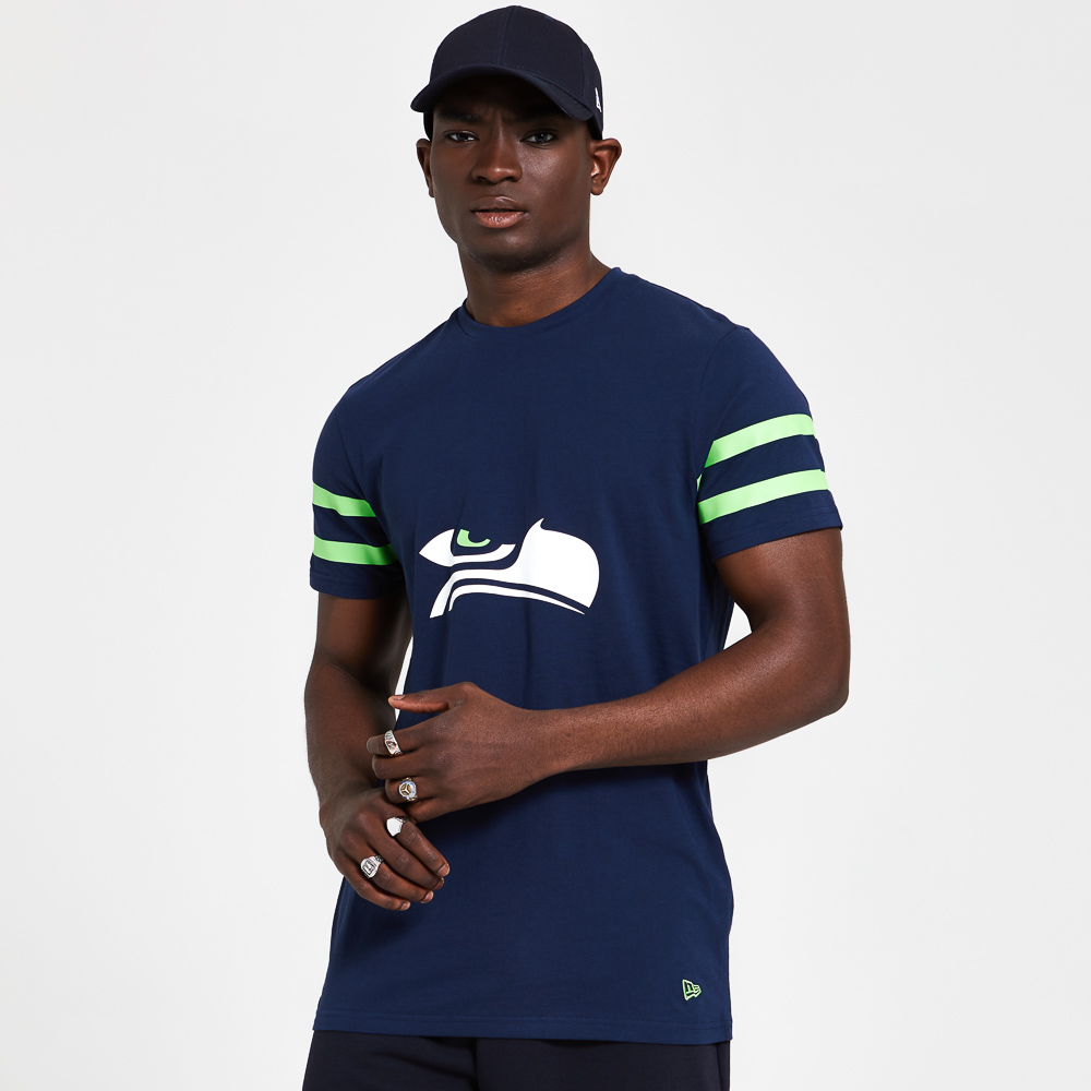 T-shirt Logo Elements bleu marine des Seawhawks de Seattle