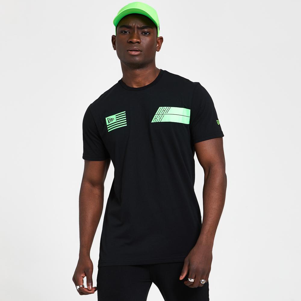 T-shirt New Era Neon Graphic nera