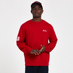 Sudadera New Era Script Panel, rojo