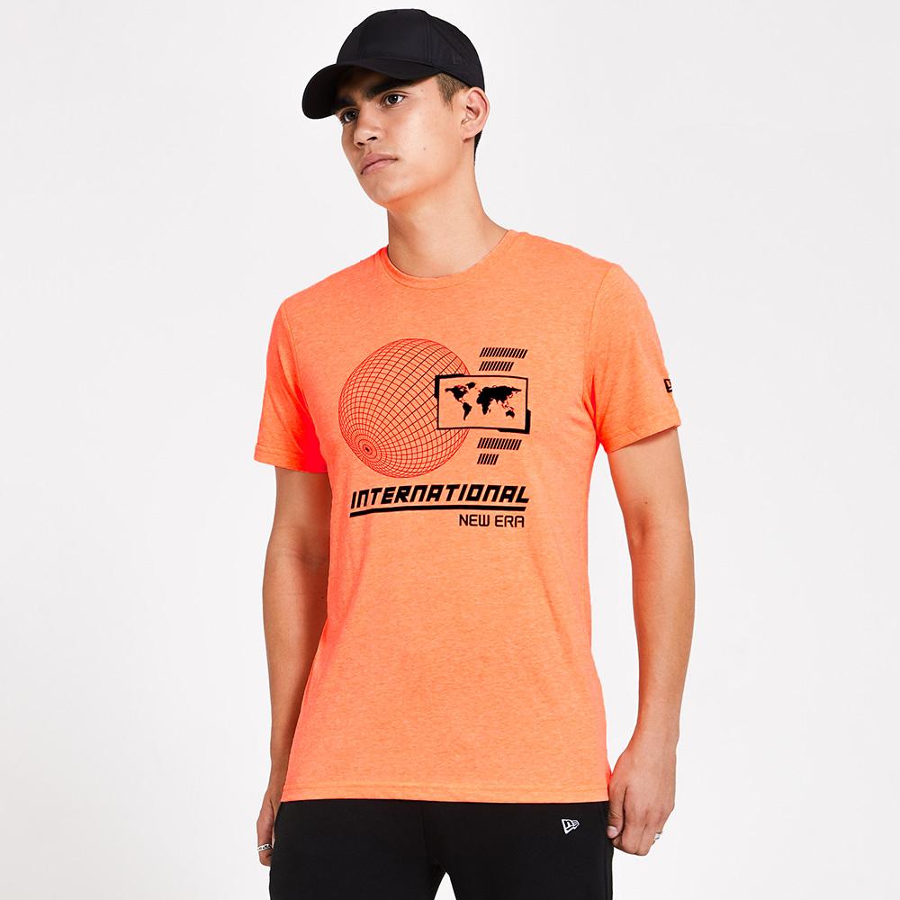 T-shirt New Era Graphic arancione fluo