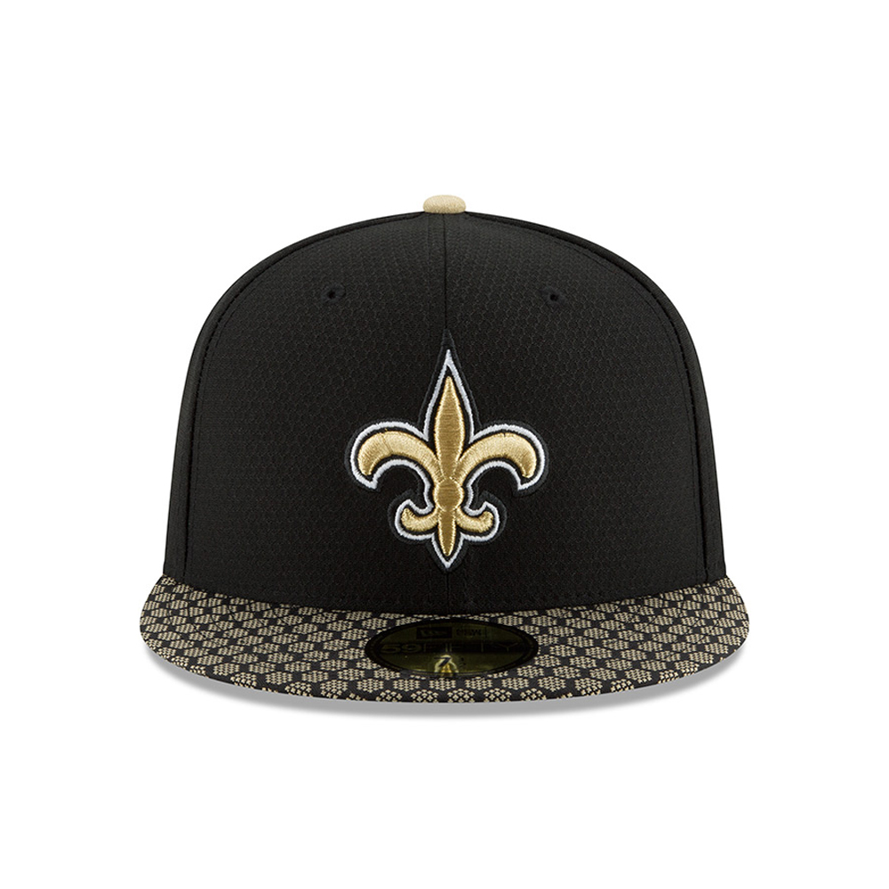 New Orleans Saints 2017 Sideline Black 59FIFTY