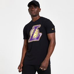 Los Angeles Lakers Infill Logo Black T-Shirt