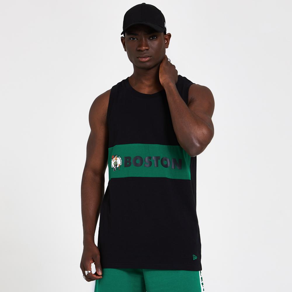Boston Celtics Green Block Black Vest