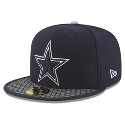 59FIFTY – Dallas Cowboys – 2017 Sideline – Marineblau