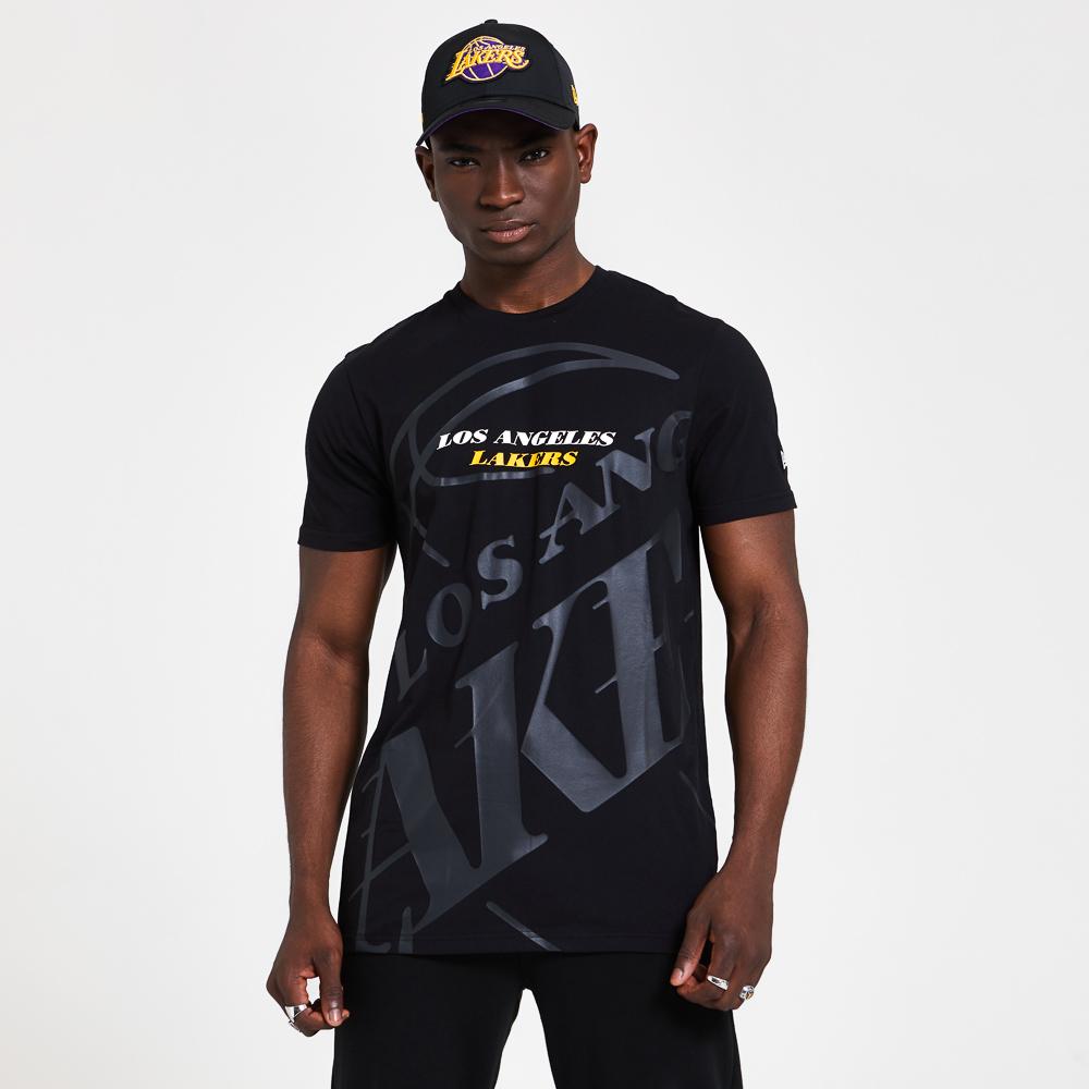 Los Angeles Lakers – T-Shirt mit Farbverlauf und Grafik – Schwarz