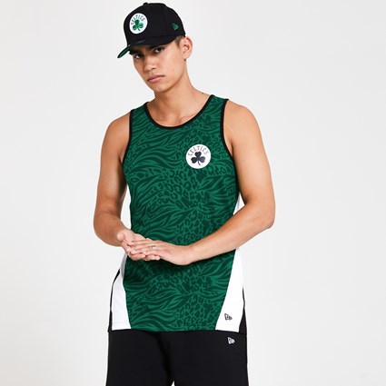 Boston Celtics All Over Print Panel Green Vest