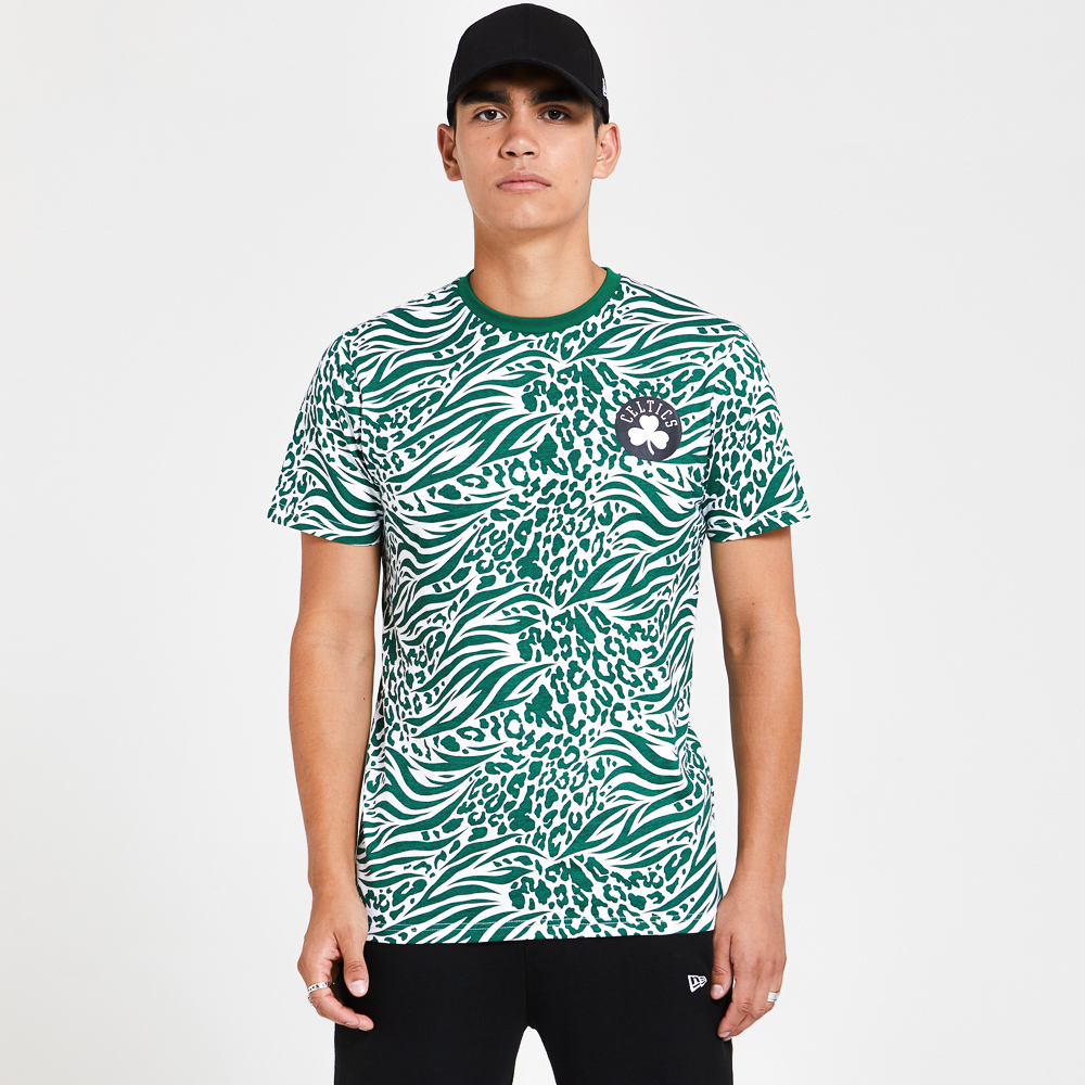Boston Celtics All Over Print Green T-Shirt