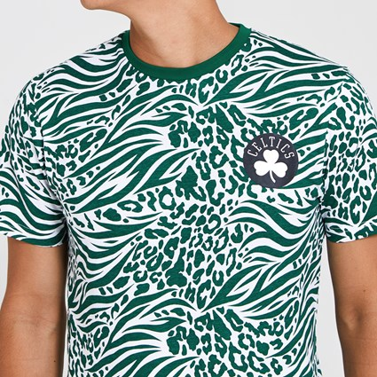 Boston Celtics All Over Print Green T-Shirt