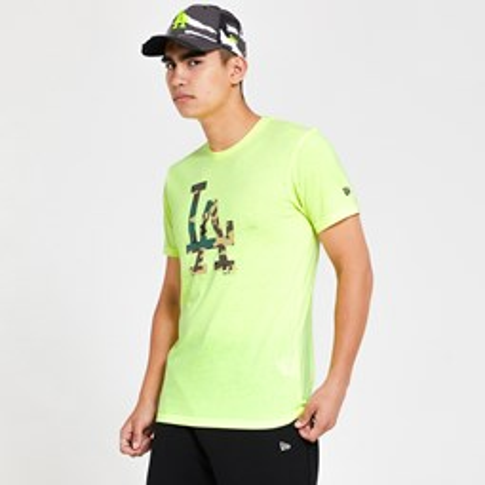 Los Angeles Dodgers – T-Shirt mit gefülltem Logo – Grün