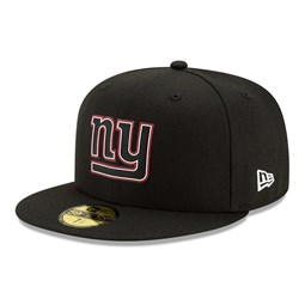 Gorra New York Giants NFL20 Draft 59FIFTY, negro