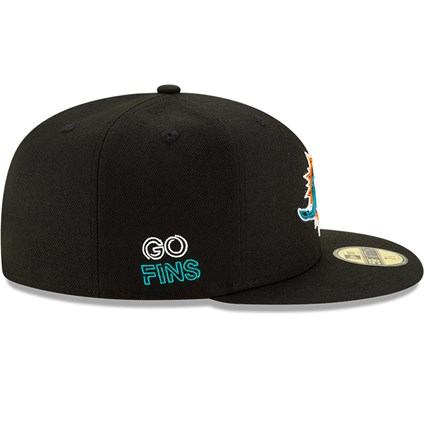 Miami Dolphins NFL20 Draft Black 59FIFTY Cap