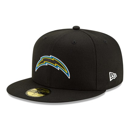 Los Angeles Chargers NFL20 Draft Black 59FIFTY Cap